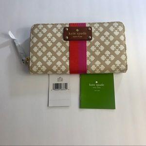 Kate spade ♠️ WLRU1187 stucco(225) neda wallet